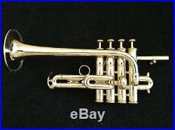Kanstul Made 4 Valve Besson Professional Piccolo Trumpet in Pristine Condition