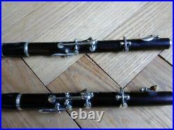 Lot 2 flûtes piccolo anciennes dont une Paul Beuscher- antique old FLUTE PICCOLO
