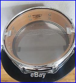 Ludwig Classic Maple 13 Piccolo snare drum Black Lacquer USA Monroe Badge