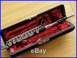 MA. Jahn, Wooden Piccolo, Silver Keys, Silver Headjoint, Wood, Flute