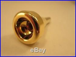 Monette Piccolo Trumpet Mouthpiece BP15S4 Gold Plated Near Mint