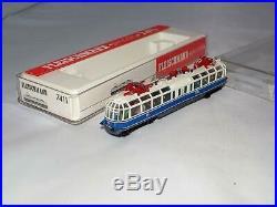 N Scale Fleischmann piccolo 7411 BR491 DB 001-4 Glass Train Electric Railcar