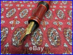 Nakaya Writer Pen Aka Temenuri Piccolo Urushi Lacquer Fountain Pen
