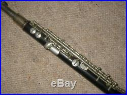 Old wooden piccolo flute in C Boehm system Zalud