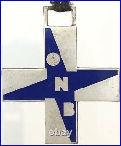 Opera Nazionale Balilla Croce Al Merito In Argento Modello Piccolo Blu