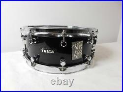 Original 1980s Trick Kodiak T6 Snare Drum Black 14 Made USA Very Rare Classic