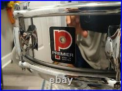 PREMIER ROYAL ACE 4 x 14 PICCOLO COB SNARE WITH ORIG CASE/STAND