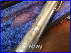 P J Hardy Piccolo Silver head Case and Cleaning Rod, Elkhart, Ind USA