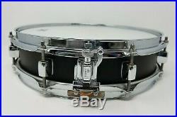 Pearl 3x13 Black Steel Shell Piccolo Snare Drum (soprano/side/popcorn)