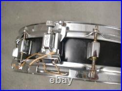 Pearl 3x13 Black Wooden Shell Piccolo Snare Drum