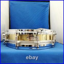 Pearl B-9114P Free Floating Piccolo Brass Snare Drum 14x3.5