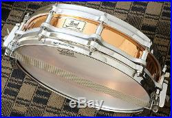 Pearl Free Floating Copper Shell Piccolo Snare Drum. PEARL