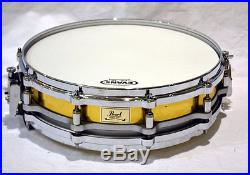 Pearl piccolo Snare drum B-9114P 90s Brass shell Free floating