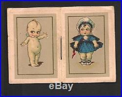 Piccolo Calendarietto Barbiere 1926 Putto Puttina Kewpie Cromolitografia Raro