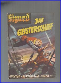 Piccolo Sonderband 15 Sigurd das Geiserschiff Original W. Lehning Verlag