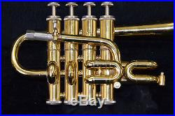 Piccolo Trompete Eterna by Getzen 4 Ventile Profi-Modell 940 incl. Koffer TOP