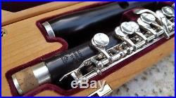 Powell Wooden Piccolo Grenadilla Wood with Sterling Silver Keys and Split E