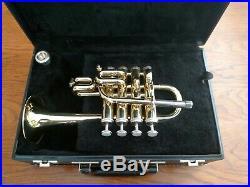 Pristine Vintage Getzen 940 Lacquered Piccolo Trumpet with Original Case / MPC