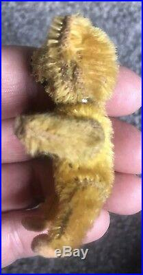 RARE ANTIQUE MINIATURE 2.5 SCHUCO PICCOLO BEAR GOLD Jointed No Res Buy Now