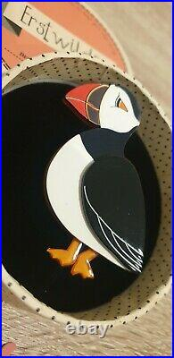 RARE Erstwilder Piccolo Puffin bird resin brooch