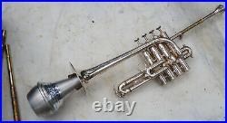 RARE WONDERFUL trumpet piccolo systeme prototype F BESSON KANSTUL made in USA