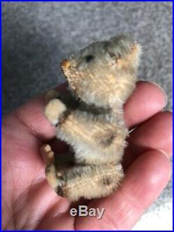 Rare Antique Miniature 2.5 Blond Mohair Schuco Piccolo Bear Nice Nr