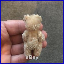 Rare Antique Miniature 2.5 White Mohair Schuco Piccolo Bear Nice Nr