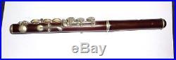 Rare Antique rosewood Piccolo flute F key 25.5 cms long