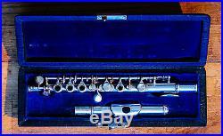 Rare L. L Lebret handmade antique French silver plated piccolo flute c. 1900