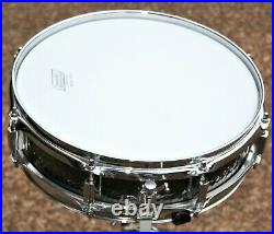 Rare Ludwig Black Beauty 3.5x13 Snare Drum Hammered Shell piccolo Excellent