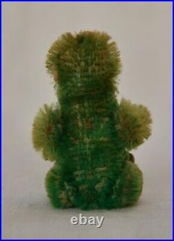 Rare Tiny 2.5 1920s Antique Piccolo Schuco Green Mohair Monkey