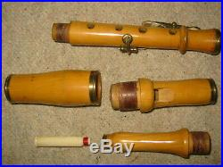 Rare very old csakan flageolet piccolo recorder flute