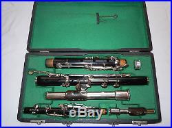 Restored antique Kohlert & Co wooden flute / piccolo set in Eb (Db)