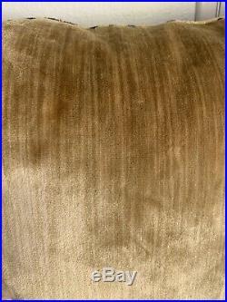 SCALAMANDRE Fabric LEOPARD VELVET PICCOLO GOLD / BROWN Pillow 21 x 21