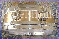 SOUNDFILE! TAMA BELL BRASS 3.25X14 PICCOLO Snare with TAMA STARCAST DIECAST HOOPS
