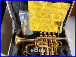 Schöne 4 Ventile Piccolotrompete Amati 383, klein Trompete, Hoch B /A, 2 Rohre