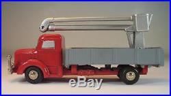 Schuco Piccolo 1/90 No. 748 Krupp LKW rot mit Hubsteiger / Arbeitsbühne #644