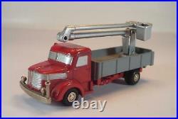 Schuco Piccolo 1/90 No. 748 Krupp LKW rot mit Hubsteiger / Arbeitsbühne #6928