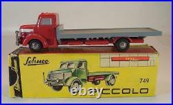 Schuco Piccolo 1/90 No. 749 Krupp Tiger Pritschenwagen rot in O-Box #6931