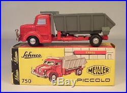 Schuco Piccolo 1/90 No. 750 Krupp Großraumkipper Meiller Kipper rot in Box #4094