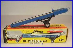 Schuco Piccolo 1/90 No. 759 Förderband blau Belt Conveyor in O-Box #6917