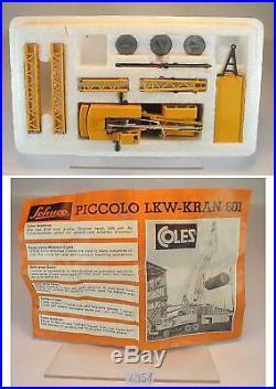Schuco Piccolo 1/90 No. 801 Coles Kran original COLES Promo Werbemodell OVP/MIB