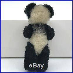 Schuco Piccolo Mini Panda Teddy Bear 6cm 2.5in Mohair Plush over Metal 1920s 30s
