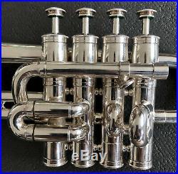 Selmer Piccolo Trumpet 365 B/a Silver Plate 703 Wonderful Horn