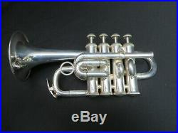 Selmer Signet Silver Piccolo Trumpet with OHSC Just Serviced, Ready to Play