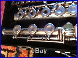 Sterling Silver Flute Selmer Omega Silver Open Hole B-Foot & Piccolo L@@K