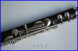 Superb Flute piccolo en palissandre clés en argent Buffet Crampon début 1900