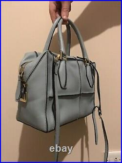 TODS d Cube piccolo Styling Bag Baby Blue Small Leather Cross Body Strap Dust