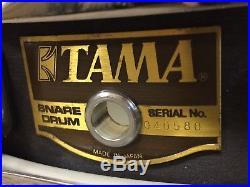 Tama Artstar 14 x 3 Piccolo Snare Drum Japan Made Ebony Satin finish