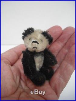 Tiny Schuco Piccolo Panda Teddy Bear & Doggie Friend